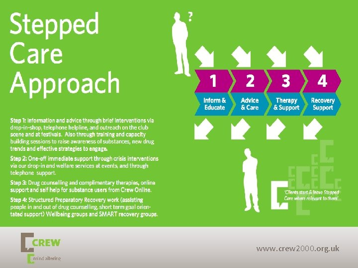 Page 4 Stepped care approach www. crew 2000. org. uk