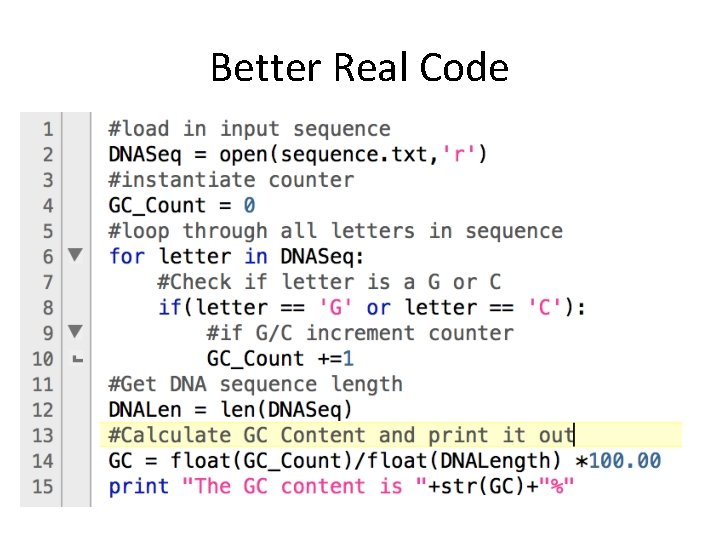 Better Real Code
