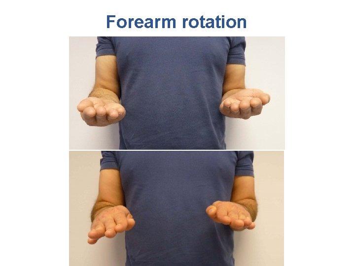 Forearm rotation