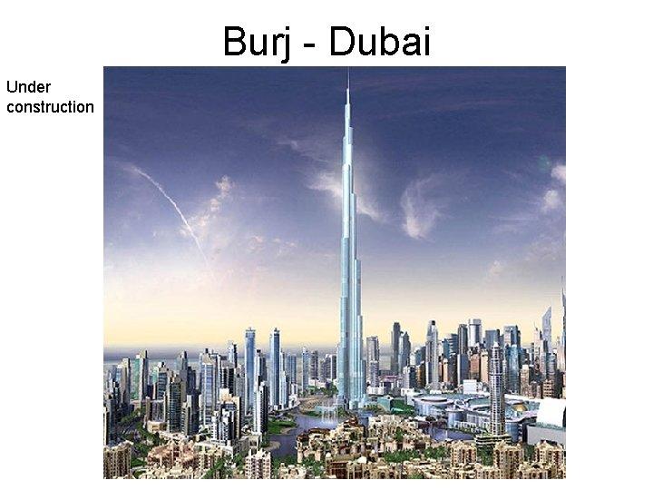 Burj - Dubai Under construction