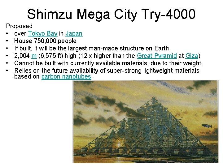 Shimzu Mega City Try-4000 Proposed • over Tokyo Bay in Japan • House 750,