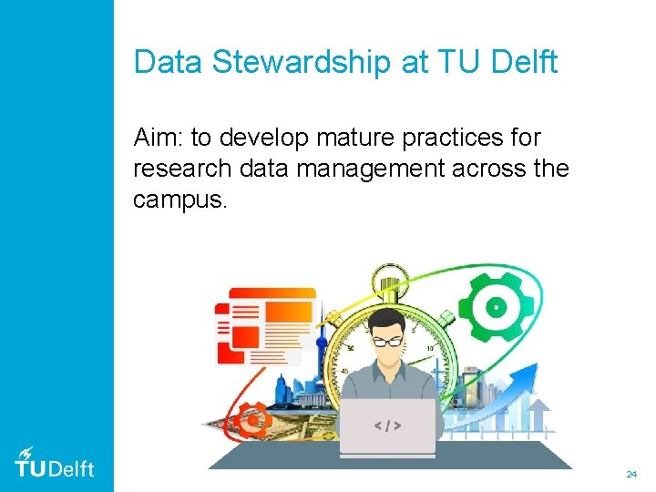 Data Stewardship at TU Delft Aim: to develop mature practices for research data management