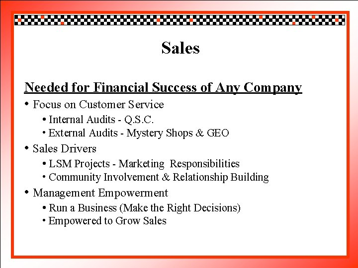 Click to edit Sales Master title style Needed Success Any Company • Clickforto. Financial