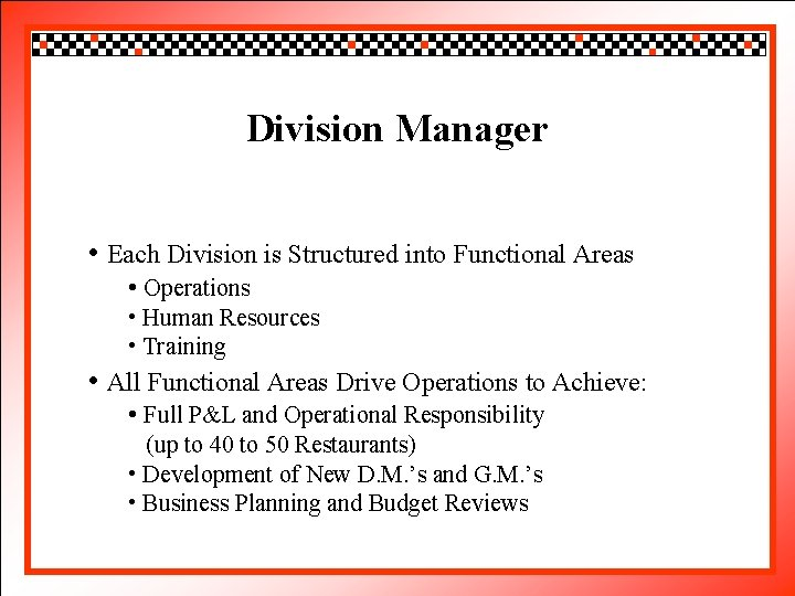 Click to. Division edit Master title style Manager • Click to edit Master text