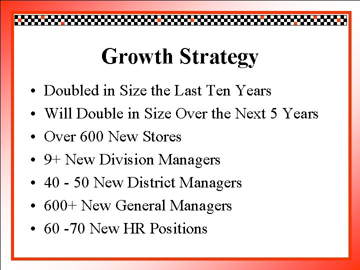 Click Growth to edit Master title style Strategy • • Doubled Click to edit