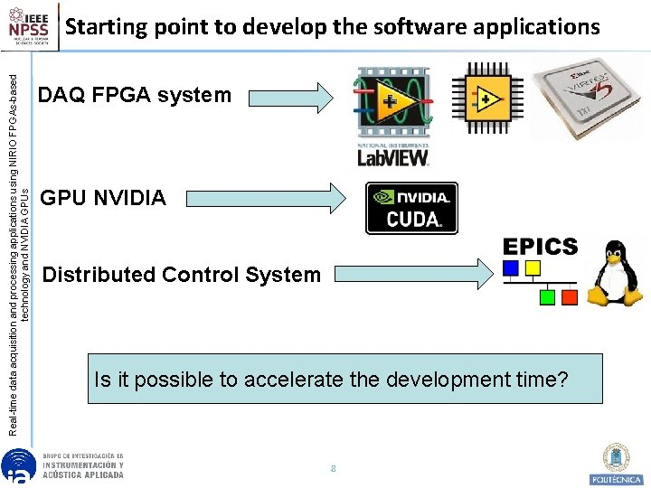 Real-time data acquisition and processing applications using NIRIO FPGAs-based technology and NVIDIA GPUs Starting