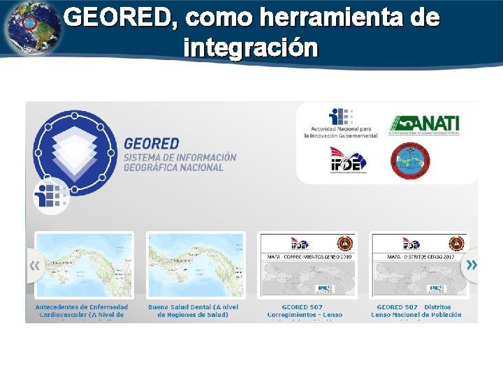 GEORED, como herramienta de integración INSTITUTO GEOGRÁFICO NACIONAL TOMMY GUARDIA