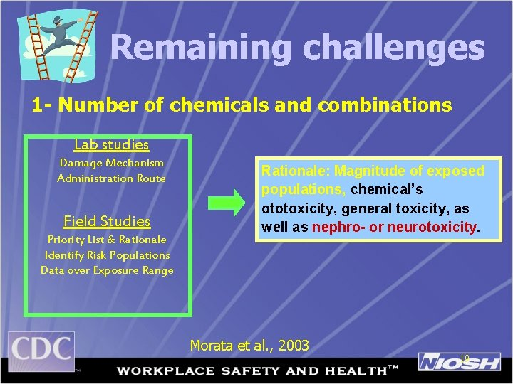 Remaining challenges 1 - Number of chemicals and combinations Lab studies Damage Mechanism Administration
