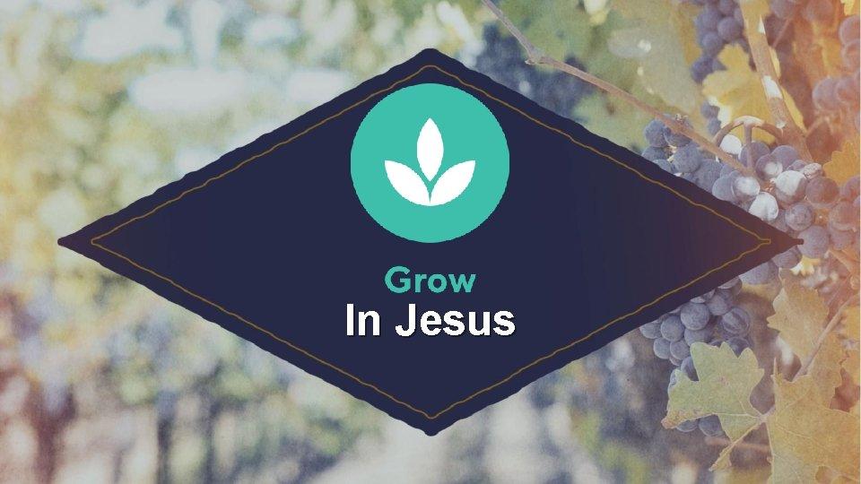 In Jesus