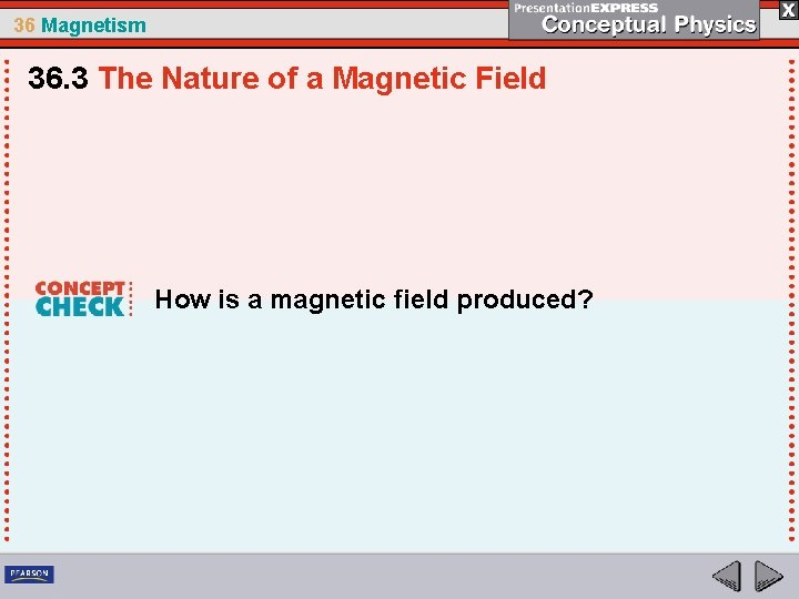 36 Magnetism 36. 3 The Nature of a Magnetic Field How is a magnetic