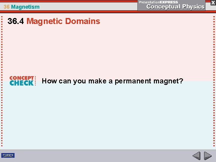36 Magnetism 36. 4 Magnetic Domains How can you make a permanent magnet?