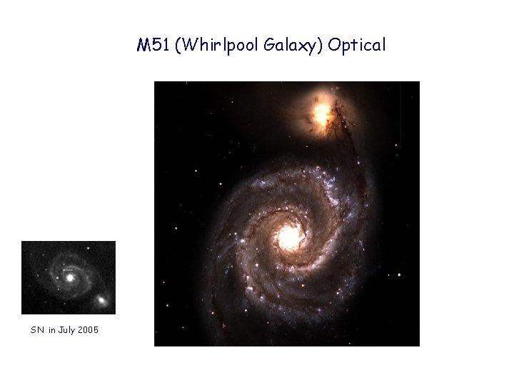 M 51 (Whirlpool Galaxy) Optical SN in July 2005