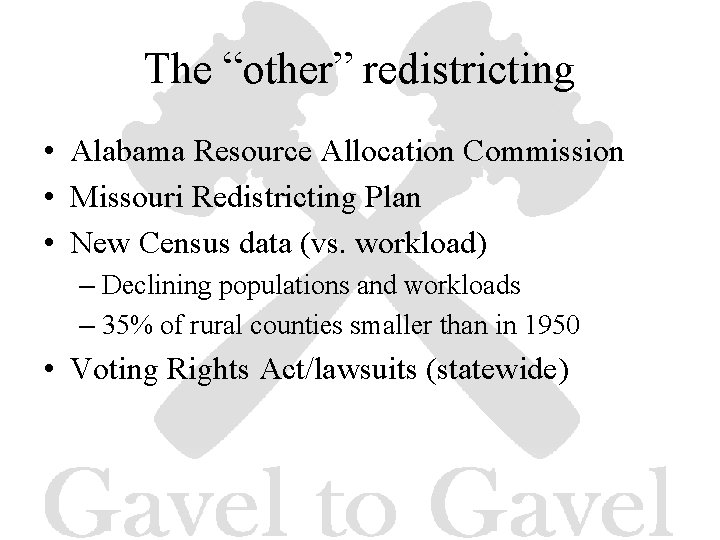 """The """"other"""" redistricting • Alabama Resource Allocation Commission • Missouri Redistricting Plan • New"""