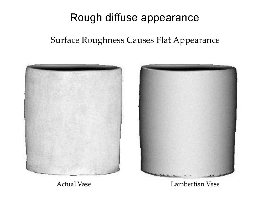Rough diffuse appearance