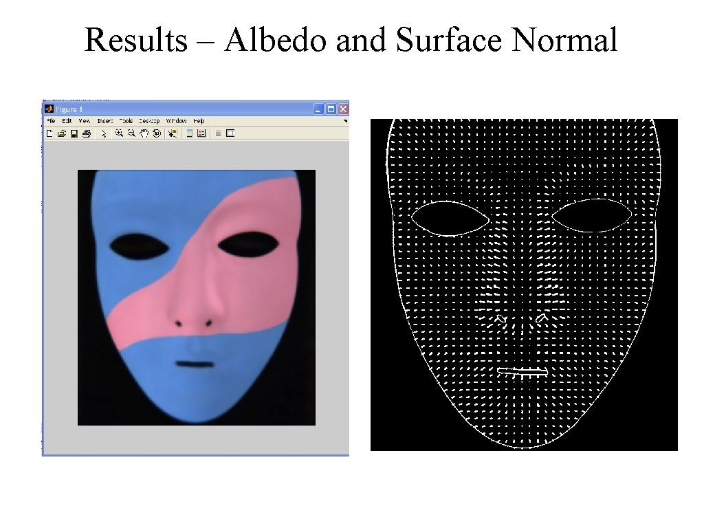 Results – Albedo and Surface Normal