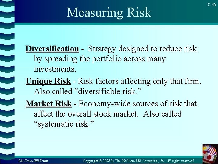 Measuring Risk Diversification - Strategy designed to reduce risk by spreading the portfolio across