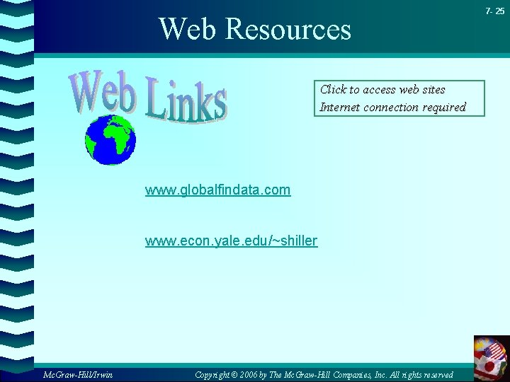 Web Resources Click to access web sites Internet connection required www. globalfindata. com www.