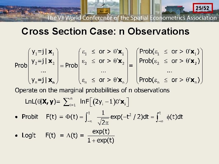 25/52 Cross Section Case: n Observations