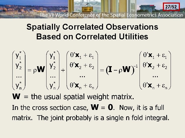 27/52 Spatially Correlated Observations Based on Correlated Utilities