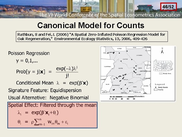 """46/52 Canonical Model for Counts Rathbun, S and Fei, L (2006) """"A Spatial Zero-Inflated"""