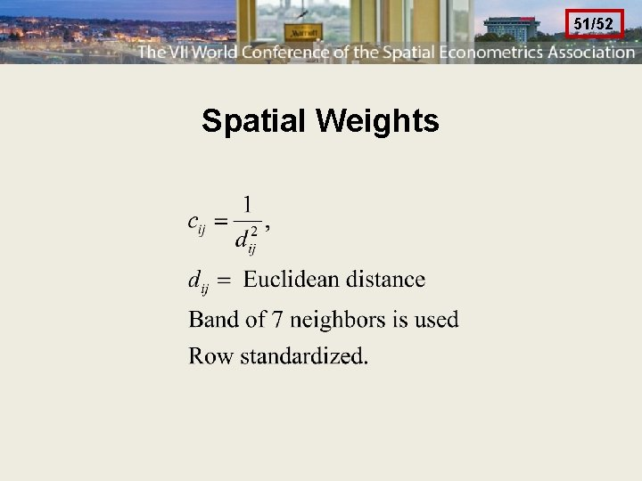51/52 Spatial Weights