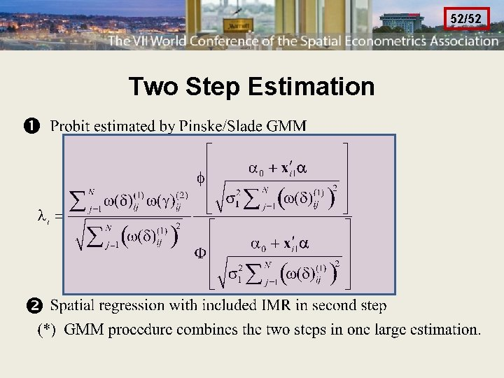 52/52 Two Step Estimation