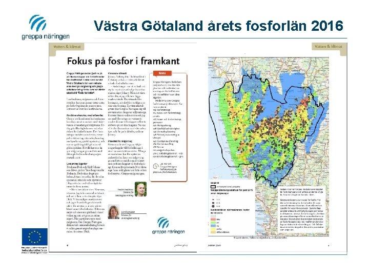 Västra Götaland årets fosforlän 2016