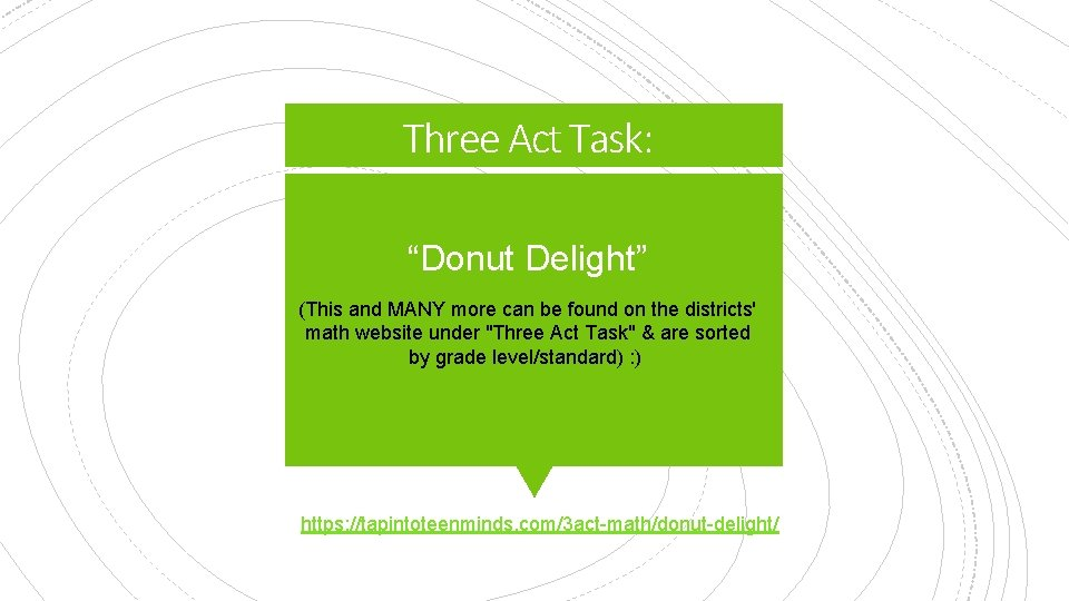 """Three Act Task: """"Donut Delight"""" (This and MANY more can be found on the"""