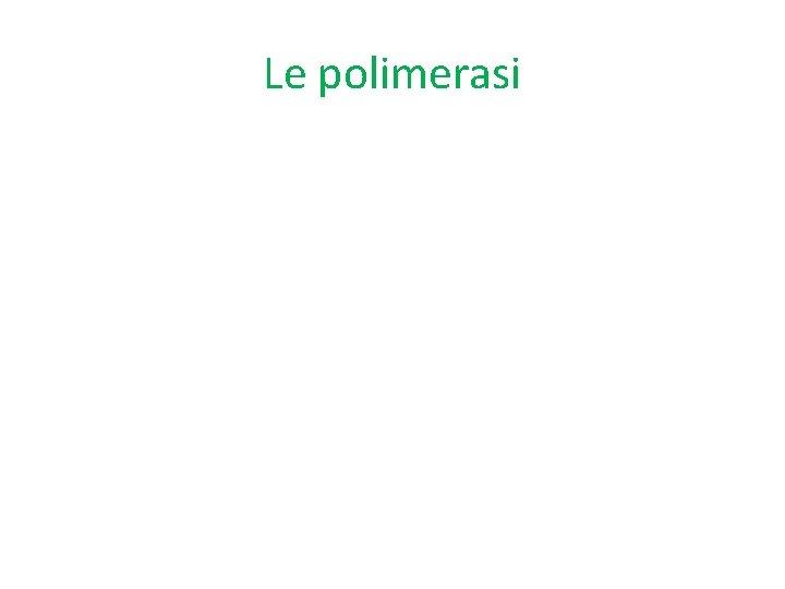 Le polimerasi