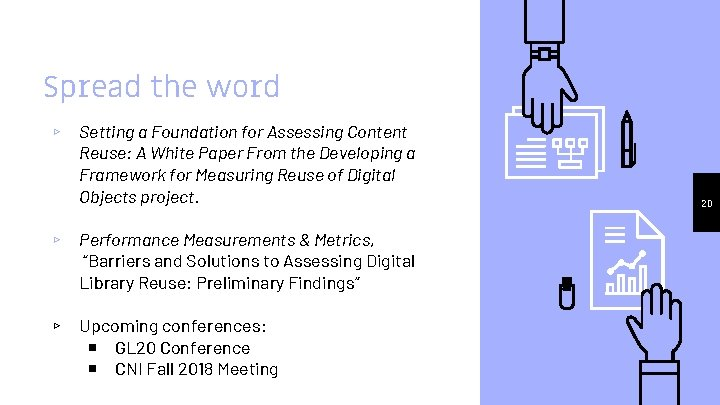 Spread the word ▹ Setting a Foundation for Assessing Content Reuse: A White Paper