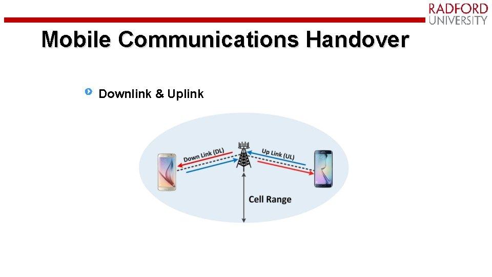 Mobile Communications Handover Mobile Communications Downlink & Uplink