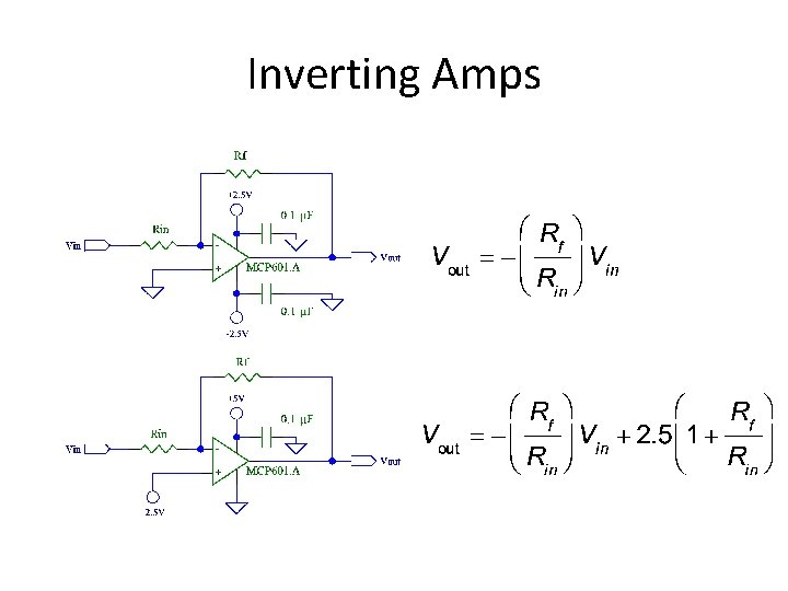 Inverting Amps