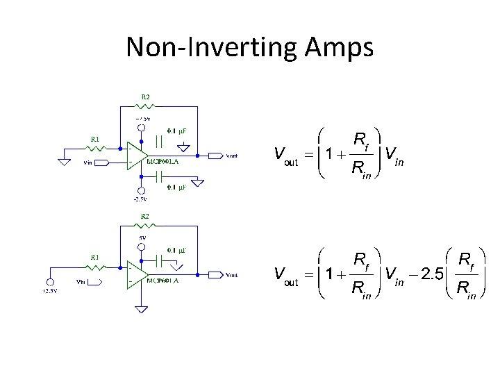 Non-Inverting Amps