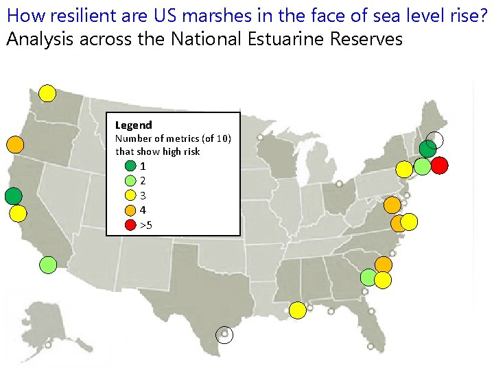 How resilient are US marshes in the face of sea level rise? Analysis across