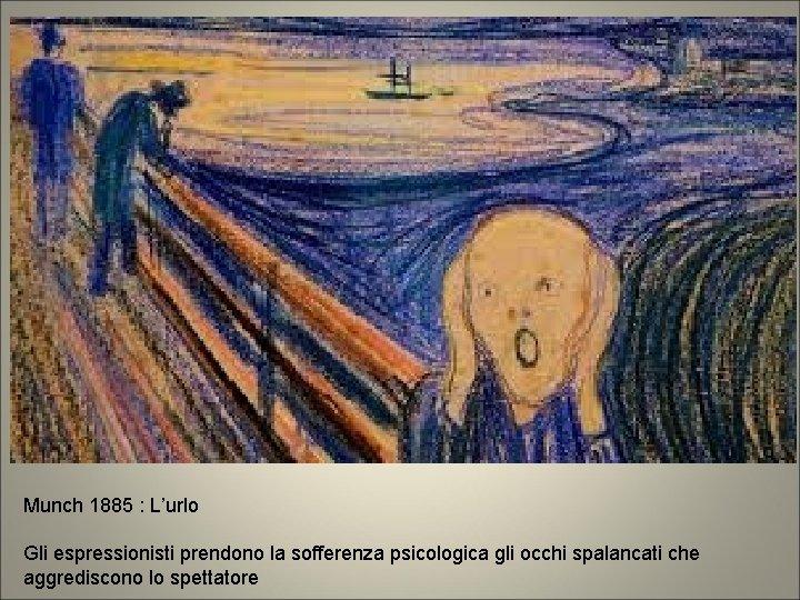 Munch 1885 : L'urlo Gli espressionisti prendono la sofferenza psicologica gli occhi spalancati che