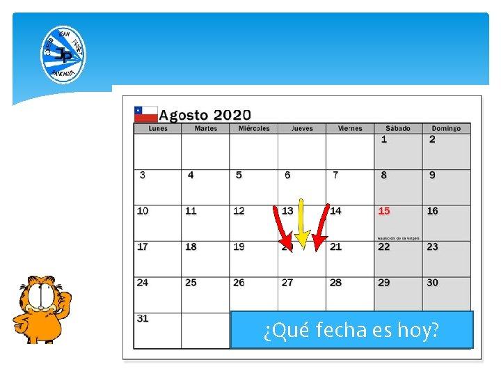 ¿Qué fecha es hoy?