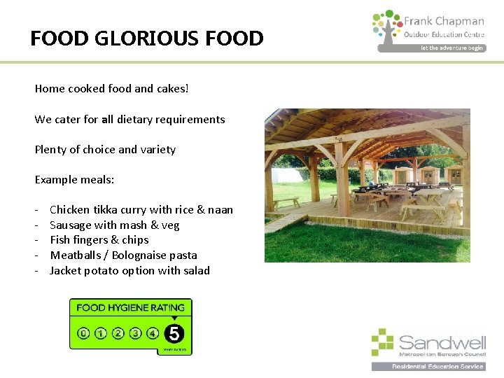 FOOD GLORIOUS FOOD Home cooked food and cakes! We cater for all dietary requirements