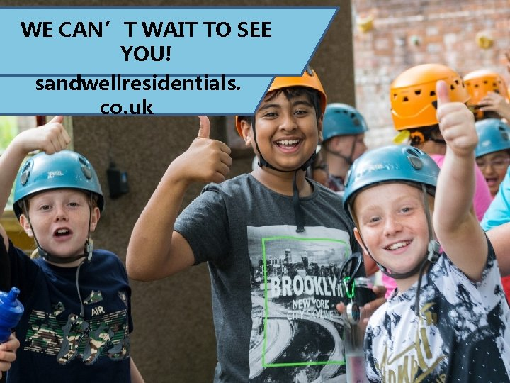 WE CAN'T WAIT TO SEE YOU! sandwellresidentials. co. uk