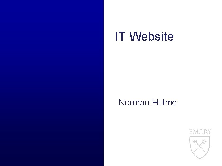 IT Website Norman Hulme