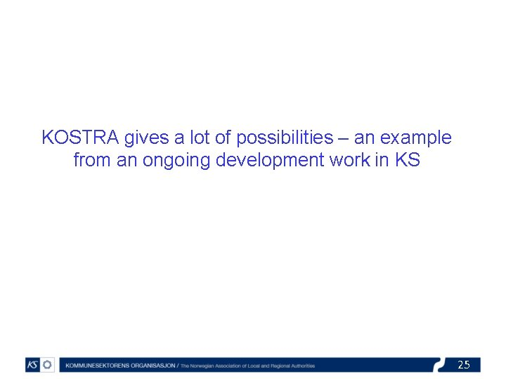 KOSTRA gives a lot of possibilities – an example from an ongoing development work