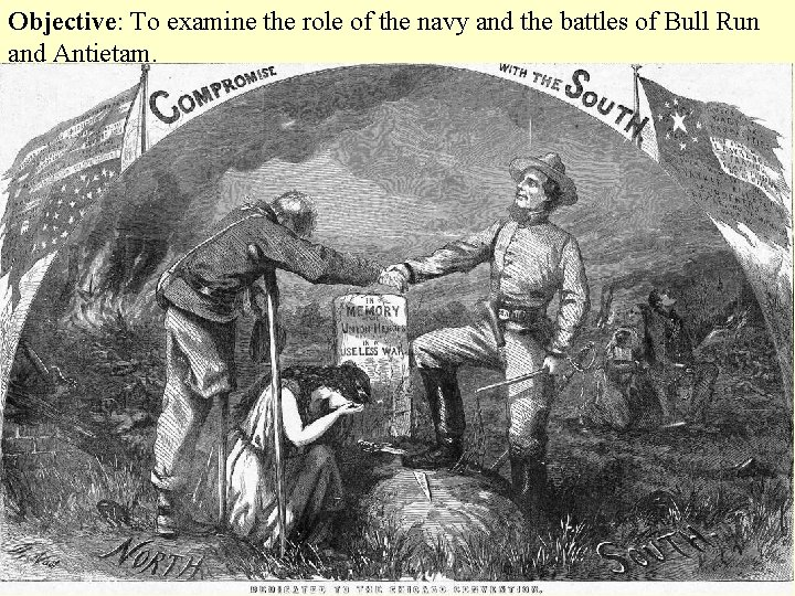 Objective: To examine the role of the navy and the battles of Bull Run