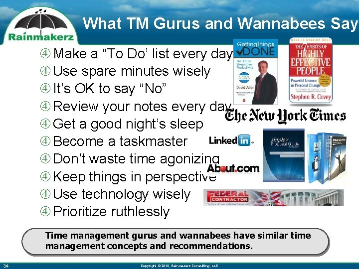 """What TM Gurus and Wannabees Say Make a """"To Do' list every day Use"""