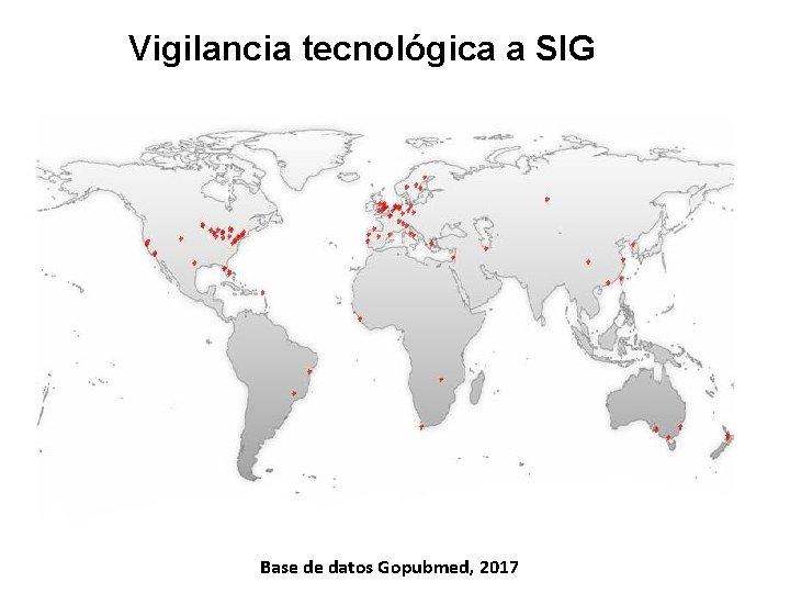 Vigilancia tecnológica a SIG Base de datos Gopubmed, 2017