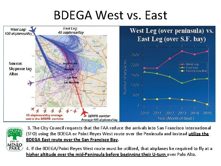 BDEGA West vs. East Source: Skyposse Los Altos 3. The City Council requests that