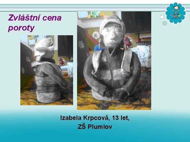Zvláštní cena poroty Izabela Krpcová, 13 let, ZŠ Plumlov