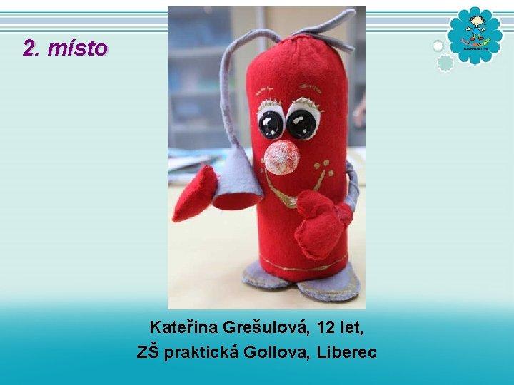 2. místo Kateřina Grešulová, 12 let, ZŠ praktická Gollova, Liberec