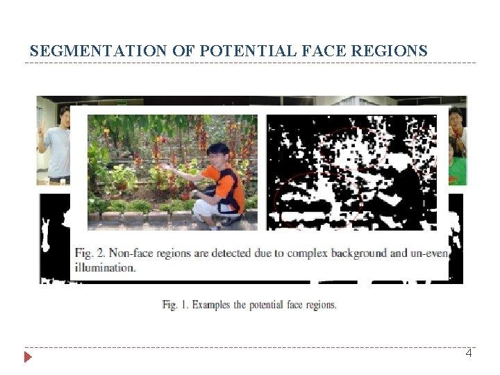 SEGMENTATION OF POTENTIAL FACE REGIONS 4