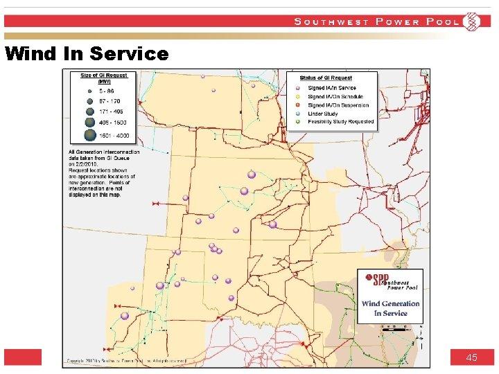 Wind In Service SPP. org 45