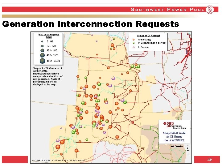 Generation Interconnection Requests SPP. org 46