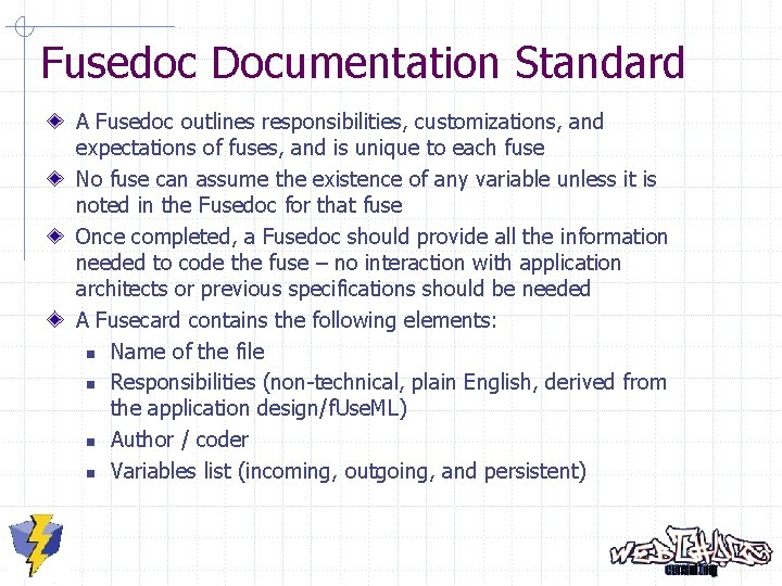 Fusedoc Documentation Standard A Fusedoc outlines responsibilities, customizations, and expectations of fuses, and is